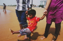 My little nephew at the beach