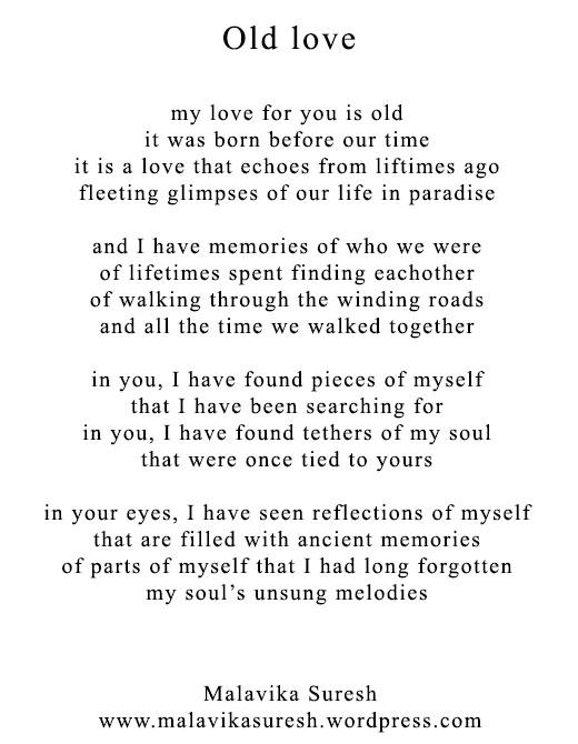 Poetry Friday Old Love Malavika