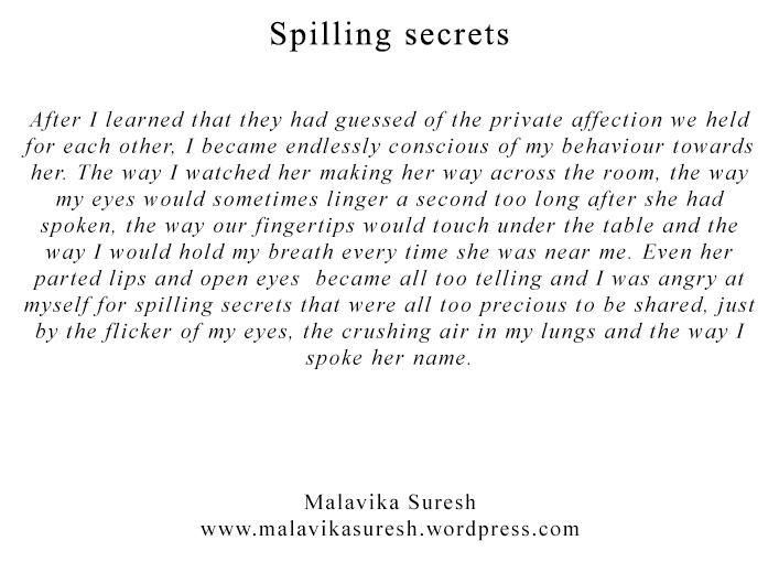 spilling secrets